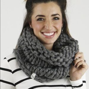 Grace & Lace Chunky Charcoal Hand Knit Snood